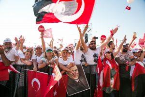 Turkijos opozicija surengė didžiulį mitingą prieš prezidentą