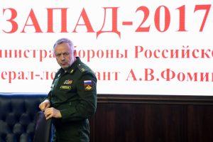 """Rusija: pratybos """"Zapad"""" nekels grėsmės kaimyninėms šalims"""