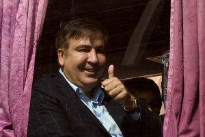 M. Saakašvilis įvažiavo į Ukrainą autobusu, vyksta į Lvovą