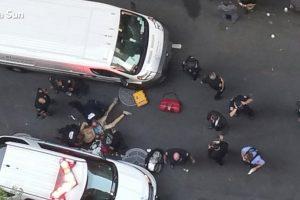 Niujorke mėsos kapokliu ginkluotas vyras sužeidė policininką