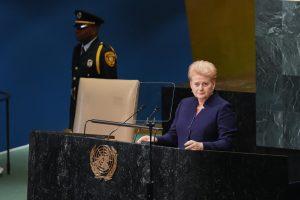 D. Grybauskaitė paragino stiprinti moterų vaidmenį