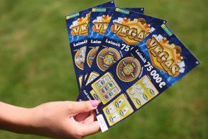 75 tūkst. eurų laimėtojai loterijos bilietai – geros nuotaikos užtaisas