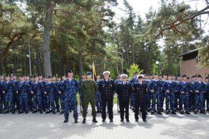 Priesaiką Tėvynei davė Karinių jūrų pajėgų kariai