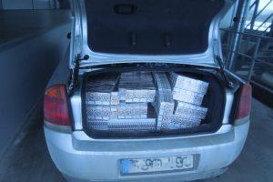 Tūkstančiai pakelių cigarečių nepasiekė uostamiesčio