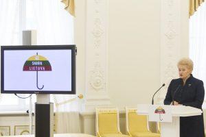 D. Grybauskaitė apie smurtą: Lietuva ima busti iš abejingumo