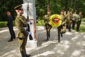 Antakalnio kapinėse – monumentas žuvusiems už Lietuvos laisvę