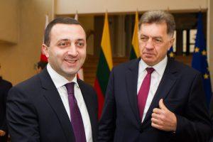Gruzijos premjeras Lietuvoje išgirdo priekaištų dėl žiniasklaidos laisvės