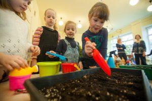 Daržo sodinimas – kartu su vaikais