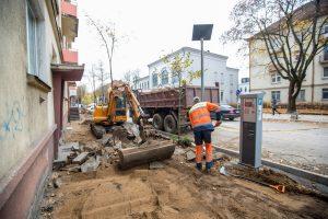 Centrinės gatvės išraustos: kada baigsis remontas?