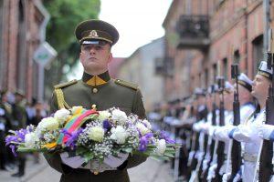 Kauno senamiestyje iškilmingai pagerbti tarpukario žydų kariai