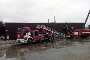 Kretingos rajone degė žvakių fabrikas