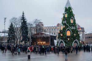 Meras pasveikino sostinės stačiatikius su Kalėdomis