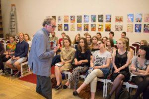 """L. Donskis """"Kino knygos"""" mokiniams: Šekspyrą skaitys ir po 200 metų"""