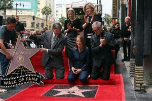 J. Foster galiausiai gavo žvaigždę Holivudo šlovės alėjoje