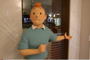 Paryžiuje atidaryta paroda, skirta legendiniam Tintinui