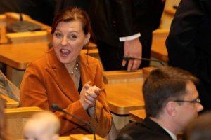 D. Meiželytė: man ne Seimo trūksta, o proto
