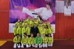 Iš Europos tradicinės karatė čempionato – su 15 medalių