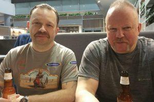 Prieš kelionę į Karibus M. Starkus ir V. Radzevičius užsiaugino ūsus