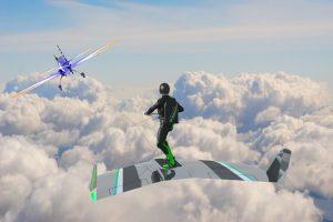 Dar nematytas ekstremalus sportas: lenta skrodžiami debesys
