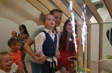 N. ir A. Juškų laukimo nuotaikas praskaidrino sūnaus gimtadienis