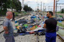 Evakuota Graikijos pasienyje buvusi migrantų stovykla