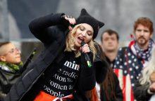 Madonna netikėtai pasirodė Vašingtono marše