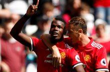 """""""Premier"""" lyga: """"Manchester United"""" tęsia galingą pasirodymą"""