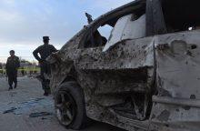 Pietų Afganistane prie banko sprogo užminuotas automobilis