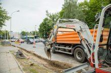 Tvarkomoje Olandų gatvėje bus paklota naujoviška asfalto danga