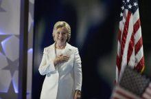 H. Clinton pažadėjo būti visų amerikiečių prezidente