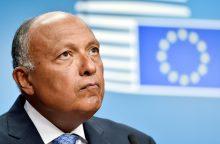 Lietuvoje pirmą kartą lankosi Egipto užsienio reikalų ministras