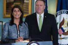 JAV pasitraukė iš JT Žmogaus teisių tarybos