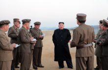 Šiaurės Korėja išbandė naują modernų taktinį ginklą
