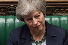 """Th. May griežtai įspėjo parlamentą: """"Brexit"""" gali būti ilgam atidėtas"""