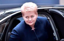 D. Grybauskaitė išvyksta į Pasaulio ekonomikos forumą Davose