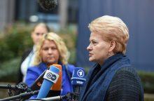 D. Grybauskaitė: dėl Rusijos veiksmų Sirijoje ES – vieninga