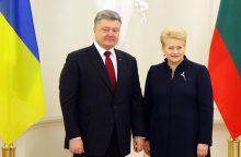 D. Grybauskaitė linki Ukrainai neprarasti budrumo ir ryžto
