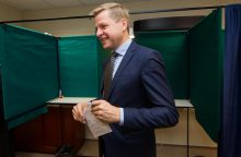 Antrajame rinkimų ture balsavęs R. Šimašius ragino palaikyti sveiką protą