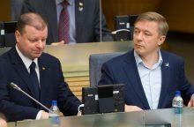"""""""Valstiečių"""" lyderiai nesijaudina likę be formalios daugumos Seime"""