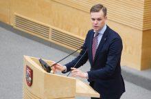 G. Landsbergis siūlo bent savaitei atidėti biudžeto priėmimą