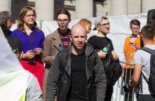 V. Bareikis po koncerto prie Seimo: sukūriau bauginančiai aktualią dainą