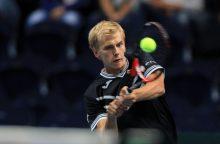 """L. Mugevičius krito pirmame """"Challenger"""" turnyro kvalifikacijos etape"""