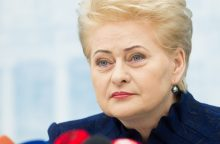 D. Grybauskaitė sveikina JAV sankcijas Rusijai