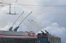 Vilniuje sprogo troleibuso padanga, vyriškiui nutrauktas kojos pirštas