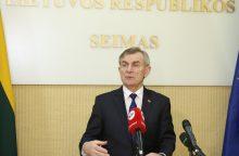 Seimo pirmininkas ragina Latviją pradėti ratifikuoti sienos sutartį