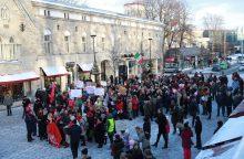 Estės surengė pirmąsias šalyje eitynes prieš diskriminaciją dėl lyties