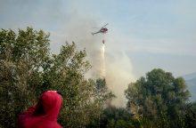 Toskanoje dėl didžiulio gaisro evakuoti šimtai žmonių