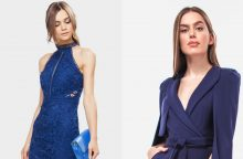 Šimtadienio įvaizdis: vietoj juodos spalvos – mėlyna, o suknelės – kostiumėlis