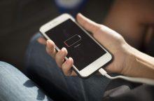 Ką daryti, kad telefono netektų krauti du kartus per dieną?