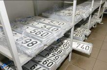 Atpigo valstybiniai motorinių transporto priemonių numerių ženklai